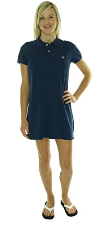 64d0c6314c Polo Ralph Lauren Women's Short-Sleeve Polo Dress-NN-XS at Amazon ...