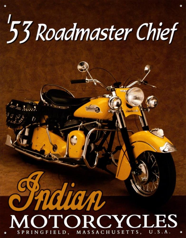 13x16 by Poster Discount TIN SIGN Indian Roadmaster