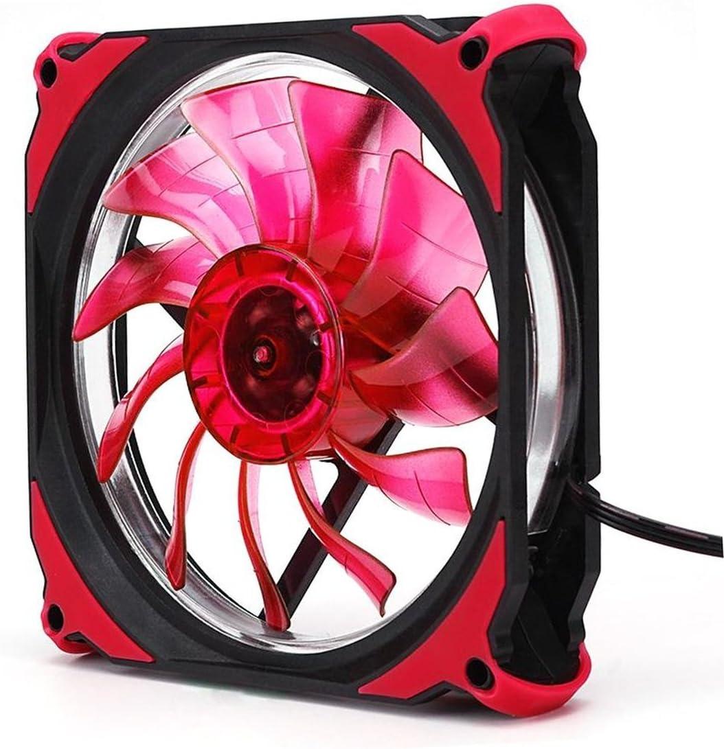 Cooling Fan,Eclipse 120mm LED Cooling Cooler Desktop Computer Case Fan Lower Noise Cooling Fan Silent Fan for Desktop Computers
