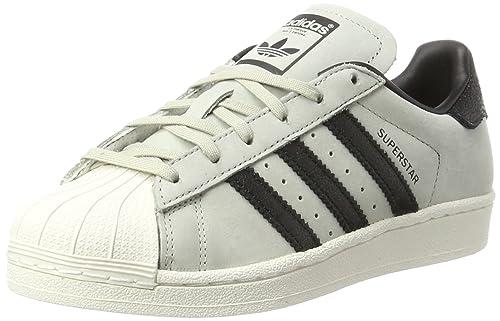 adidas Superstar Fashion, Scarpe da Ginnastica Basse Unisex-Bambini, Bianco Chalk White,
