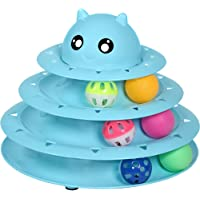 UPSKY 3 Level Towers Tracks Roller with Three Colorful Ball Toys