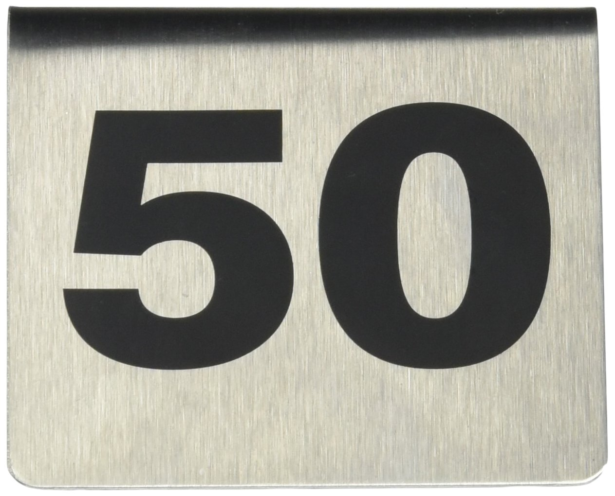 TableCraft Products T150 1-50 Stainless Steel Number Tents