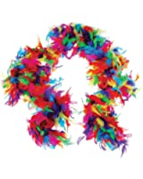 US Toy One Rainbow Feather Boa Costume, 6' x 60gm, Multicolor