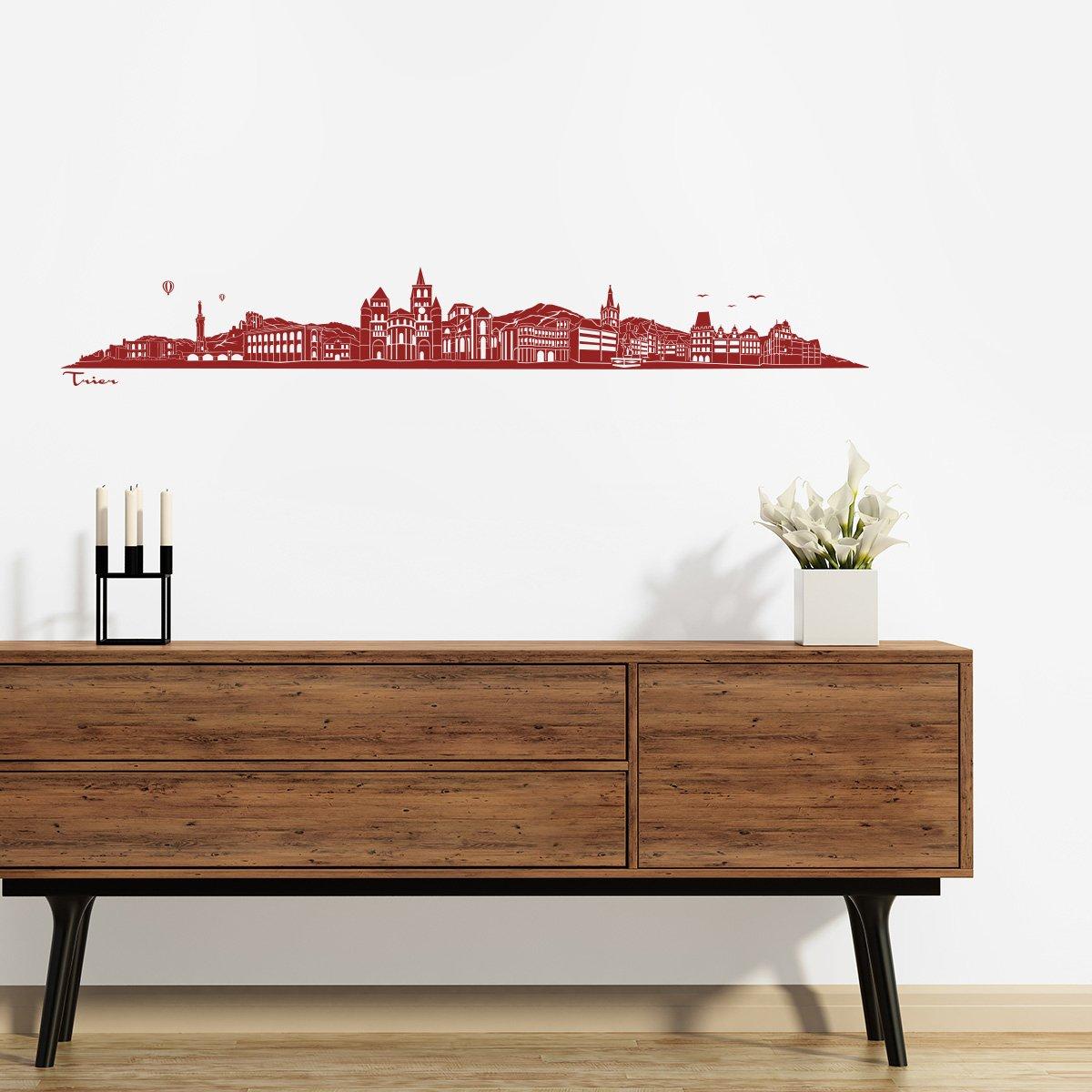 WANDKINGS Wandtattoo Wandtattoo Wandtattoo - Skyline Trier (ohne Fluss) - 240 x 36 cm - Schwarz - Wähle aus 6 Größen & 35 Farben B078SHG3WM Wandtattoos & Wandbilder 704d8e