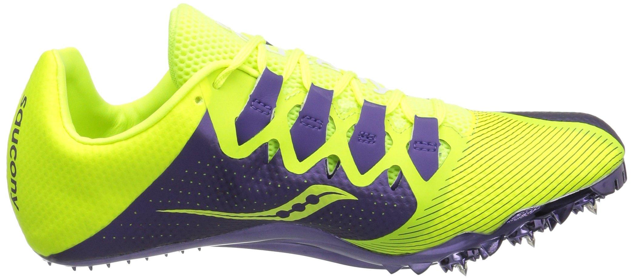 Saucony Women's Showdown 4 Track Shoe, Citron/Purple, 9.5 M US by Saucony (Image #7)
