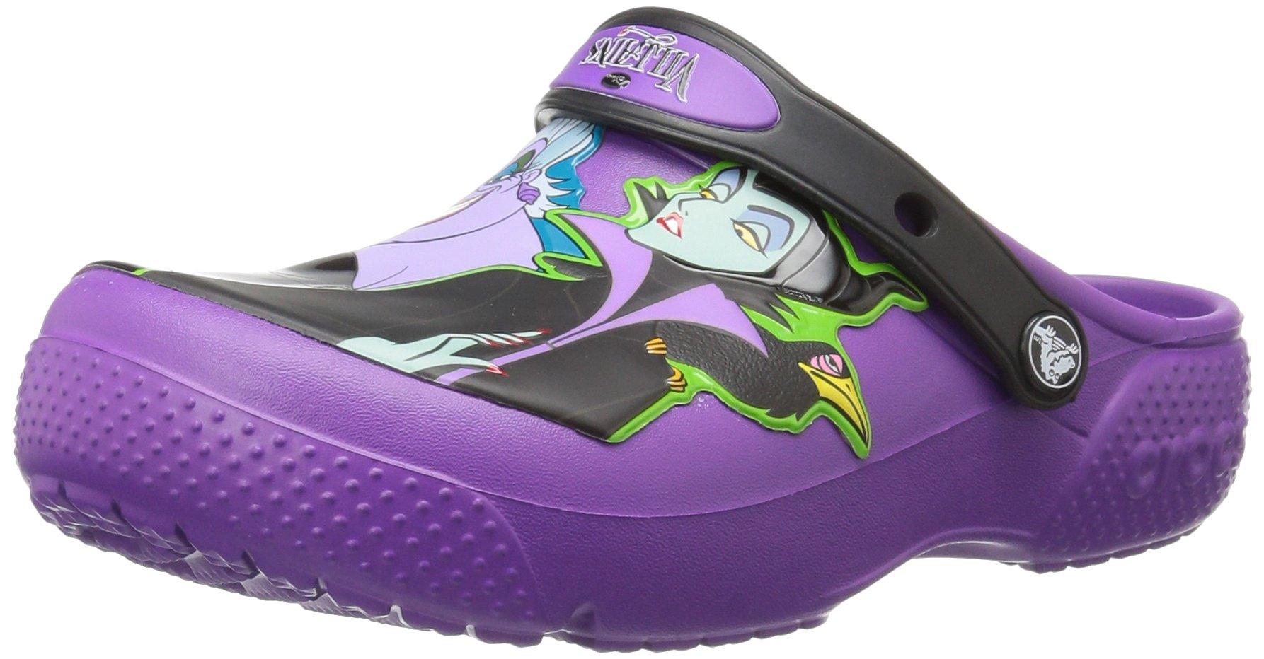 Crocs Girls' FL Disney Villain K Clog, Amethyst, 12 M US Little Kid