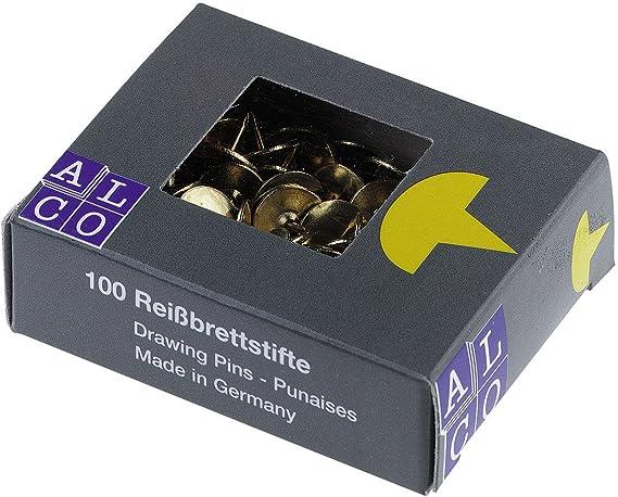 Alco-Albert 131/punaises Garant diam/ètre: 9,5/mm bo/îte 100/pi/èces metall/überkapselt laitonn/é
