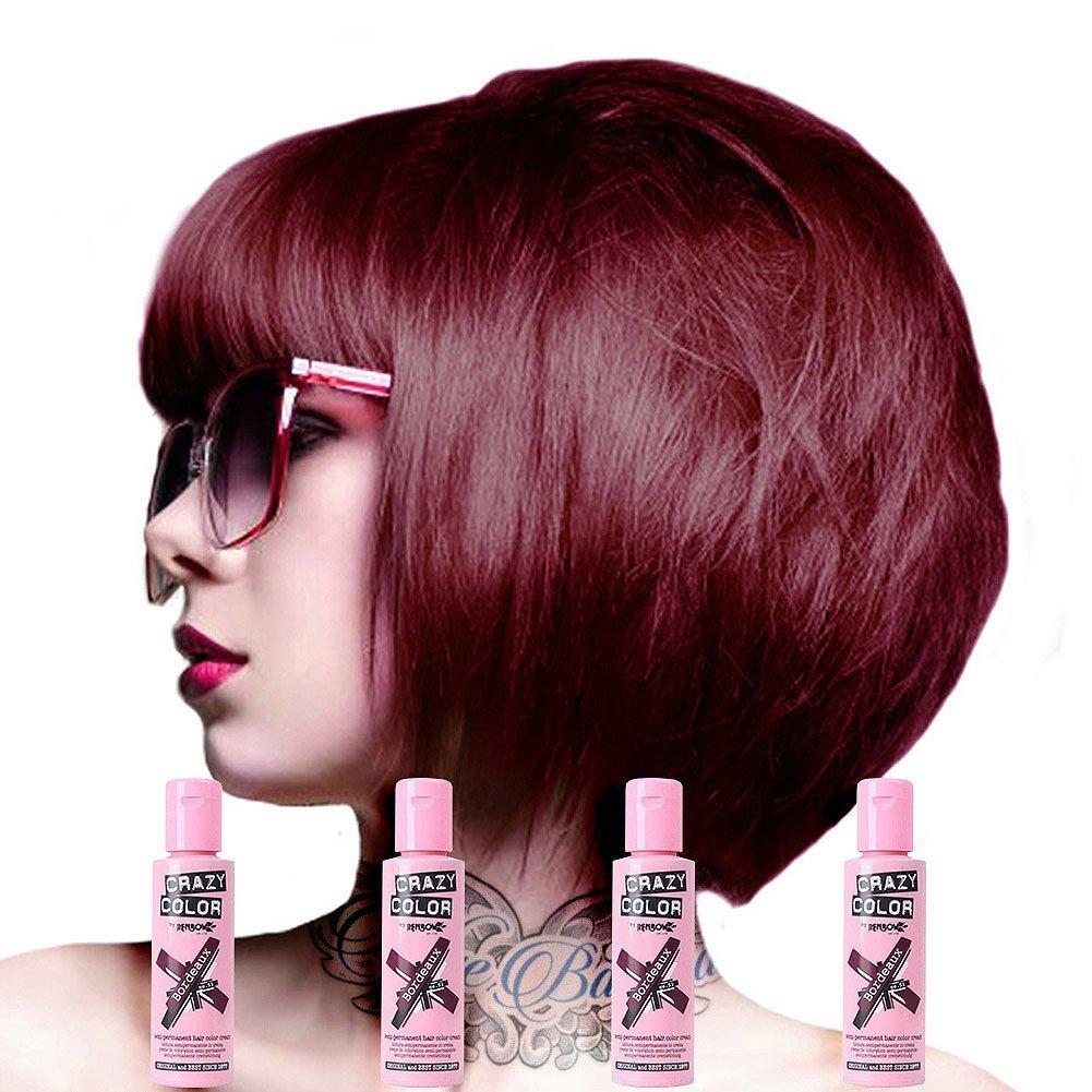 Amazon Crazy Color Semi Permanent Hair Color Cream Bordeaux No