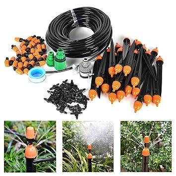 Boruit DIY Kit De 25m Réglable Irrigation Goutte À Goutte Arrosage Micro  Arroseur Avec 30 Pcs 8c472670f062