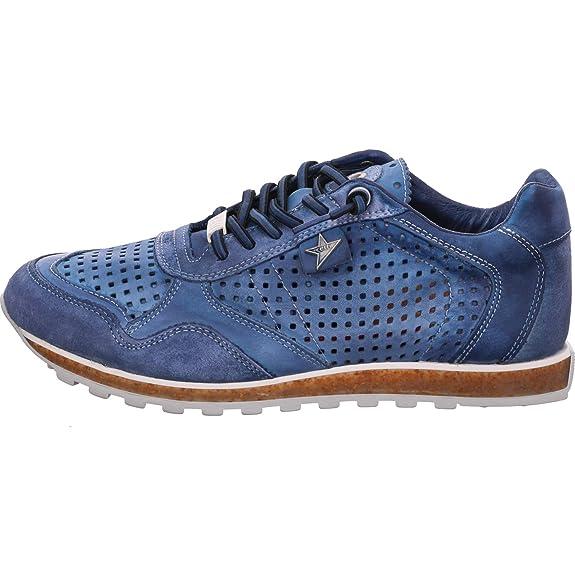 Cetti C-848 V19 - Herren Schuhe Sneakers Freizeitschuhe - Natural-tin-wash-royal, Größe:46 EU