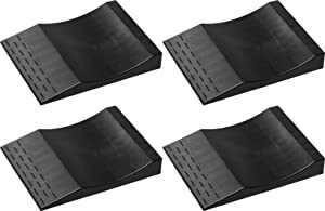 MAXSA 37353 Park Right Tire Saver Ramps for Flat Spot Prevention and Vehicle Storage (Set of 4), Black