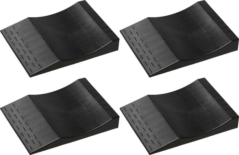 MAXSA Flat Free Tire Ramps  (Set of 4), Long Term Vehicle Storage Tire Savers. Park Right Black 37353 MAXSA Innovations 37353-BK