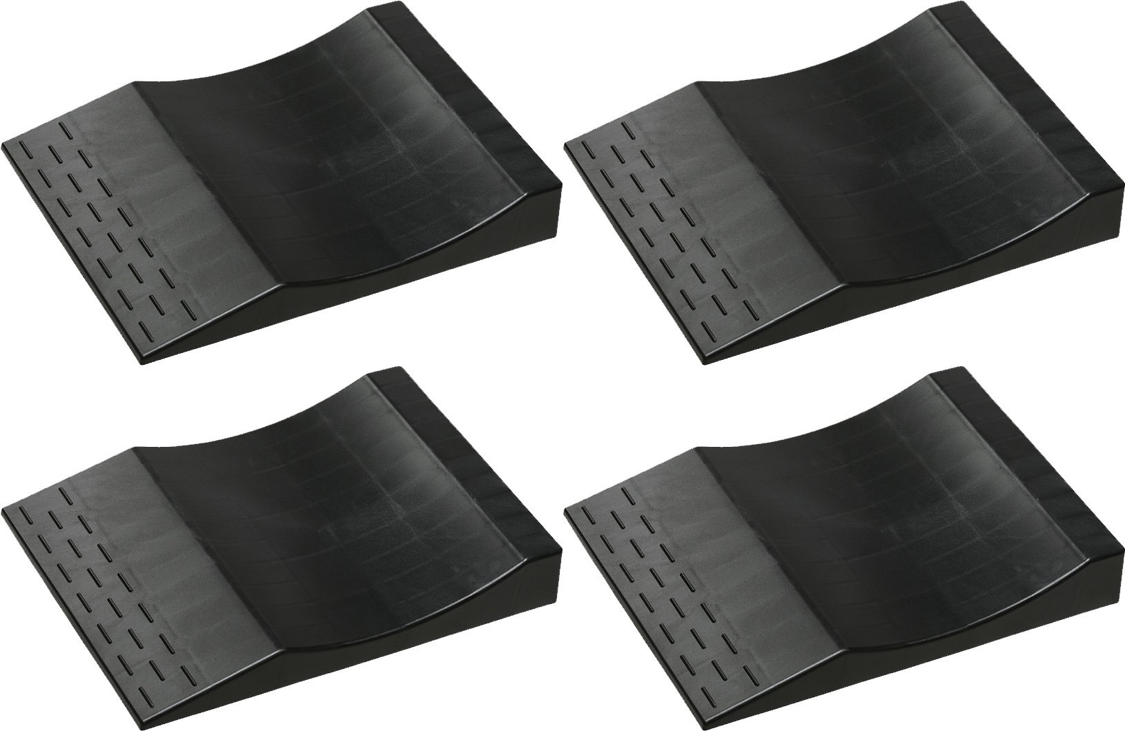 MAXSA Flat Free Tire Ramps  (Set of 4), Long Term Vehicle Storage Tire Savers. Park Right Black 37353