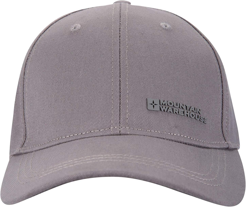 Lightweight Grey 100/% Cotton Cap Hat Twill Design Mountain Warehouse Mens Baseball Cap