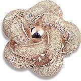 Merdia brooches 时尚精致镂空 breastpin 玫瑰金色适用于女孩女式和女式