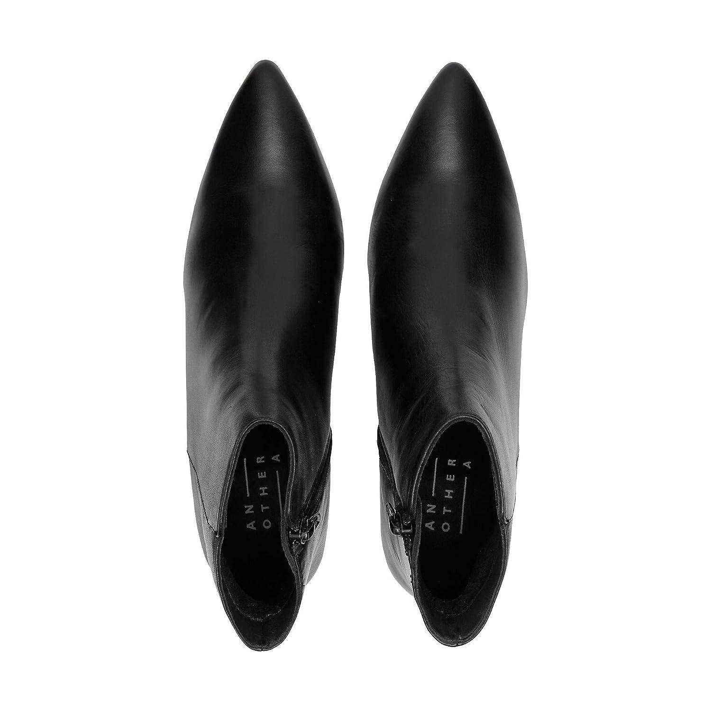 Another A A A Damen Damen Fashion-Stiefelette, Stiefel in Schwarz mit elegantem Pfennig-Absatz 6fe9d2