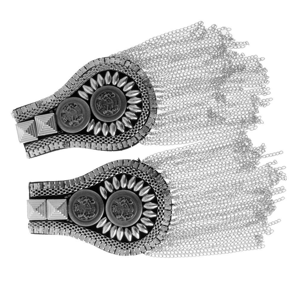 MagiDeal 1 paire Gland /Épaulette Planche Marque Costume Pin Badges