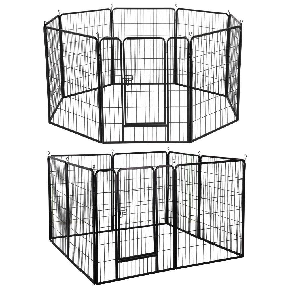 Yaheetech 40-inch 8 Panel Pets Playpen Dog Exercise Pen Cat Fence with Door Puppy Rabbits Portable Play Pen