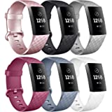 [6 Pack] Silicone Bands Compatible with Fitbit Charge 4 / Fitbit Charge 3 / Fitbit Charge 3 SE, Replacement Fitness…