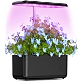 Hydroponic Indoor Growing System, Vogek Small Herb Garden Grow System Kit with LED Grow Light, Smart Garden for Plant…