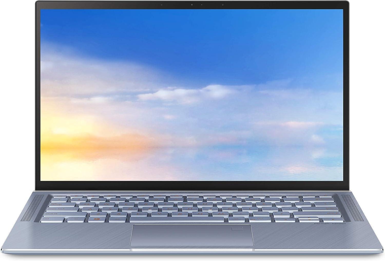 "ASUS ZenBook 14 Ultra Thin and Light Laptop, 4-Way NanoEdge 14"" FHD, Intel Core i5-10210U, 8GB RAM, 512GB PCIe NVMe SSD, Wi-Fi 5, Windows 10 Home, Utopia Blue, UX431FA-EH55 (Renewed)"
