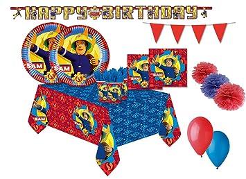 am scan Kit 46 f Sam el Bombero Cumpleaños: Amazon.es ...