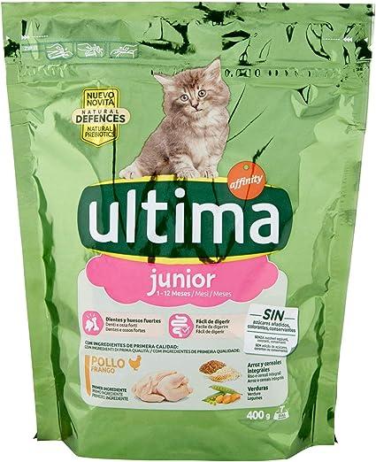 ultima Cat - Junior 2-12 Pollo & Arroz 400 gr: Amazon.es ...