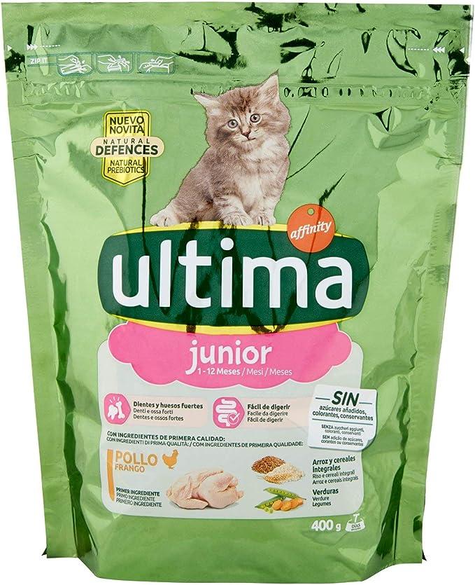 ultima Cat Junior Comida Para Gatos con Pollo y Arroz - 400 g ...
