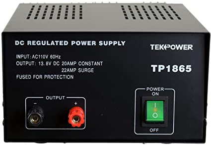 TekPower TP1865 22 Amp DC 13 8V Regulated Power Supply with Fuse Protection