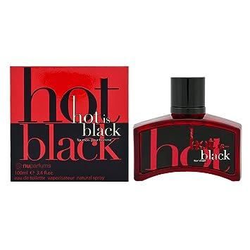 Amazoncom Nu Parfums Hot Is Black Eau De Toilette Spray For Men