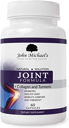 Joint Support, Turmeric Curcumin Collagen Herbal Supplement w Boswellia MSM Ginger Natural Anti-inflammatory, Pain Relief, Antioxidant Joint Formula
