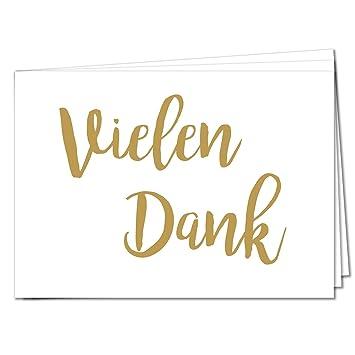 Tysk Design Postkarten Vielen Dank 20 Postkarten Gold Karte Deko Geburtstag Gruß Glückwunsch Danke Hochzeit Liebe Kindergeburtstag