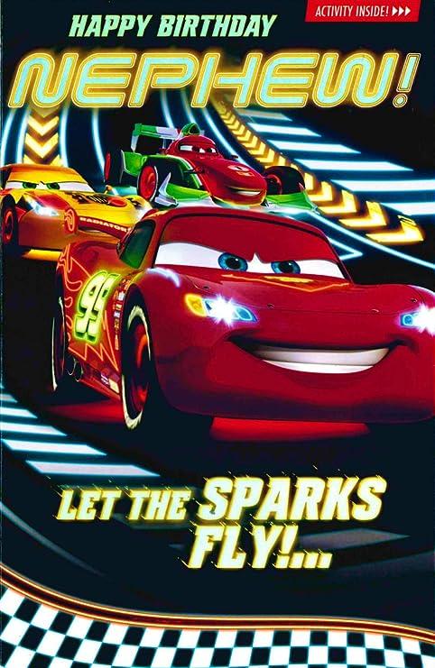 Amazon.com: Carlton – Disney Cars – Tarjeta de cumpleaños ...