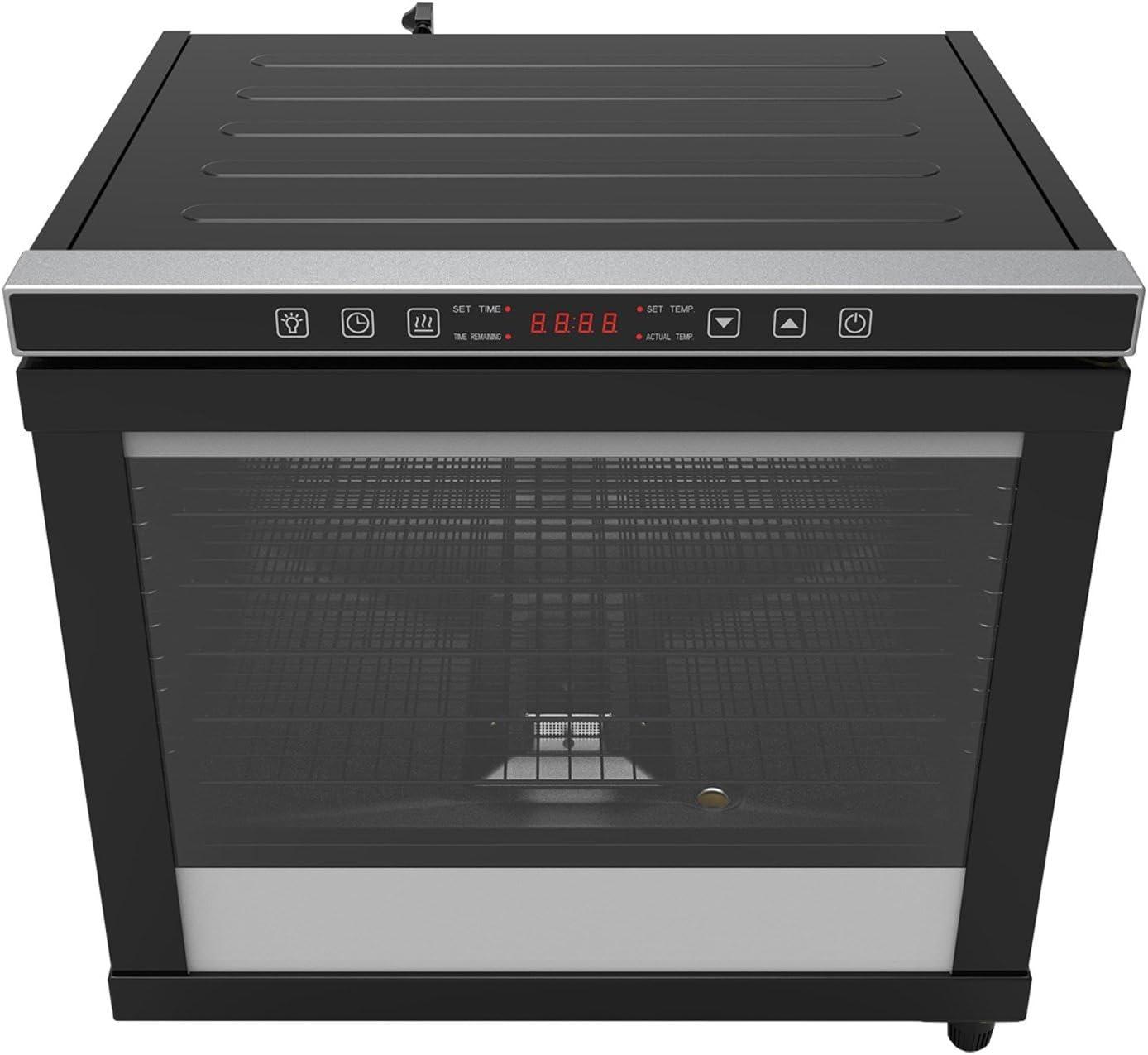 CHARD CD-80C, Pro Power Dehydrator, Black, 80 liter, 12 rack, 1700 watts