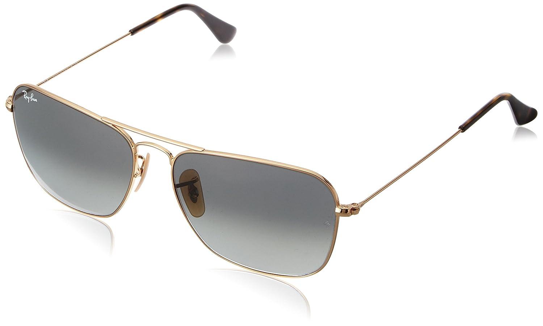 a2e0298f670 Amazon.com  Ray-Ban Caravan - Gold Frame Grey Gradient Lenses 58mm Non-Polarized   Clothing