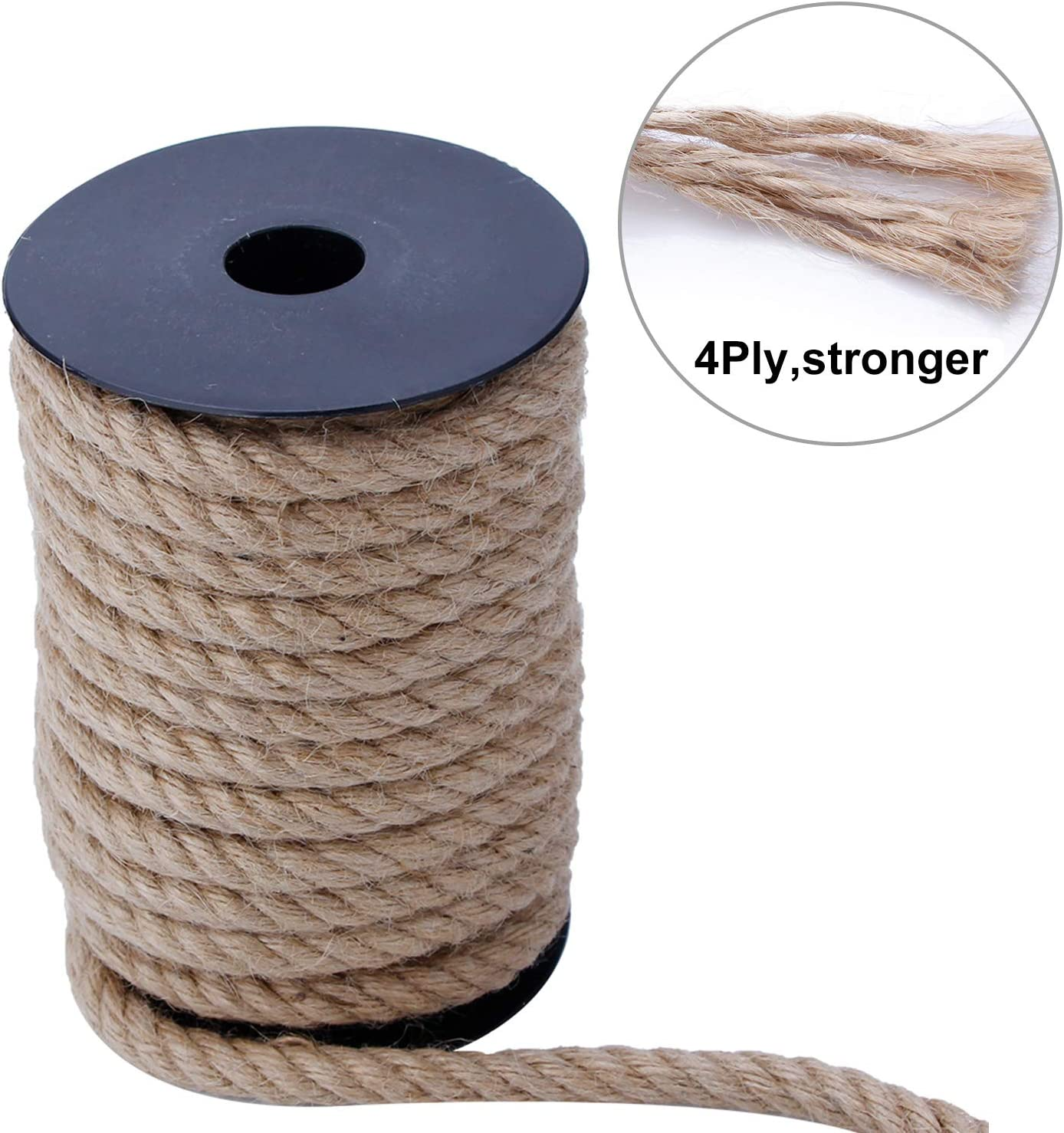 Bundling and Crafts Natural Heavy Duty Industrial Packing Jute Twine for Gardening Recycling Bang4buck Strong Jute Rope 10mm 4Ply 33 Feet