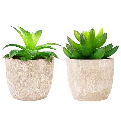 New Mini Artificial Simulation Miniature Succulents Diy Fake Plastic Green Plants Office Decor Garden Home Delicate Artificial Decorations