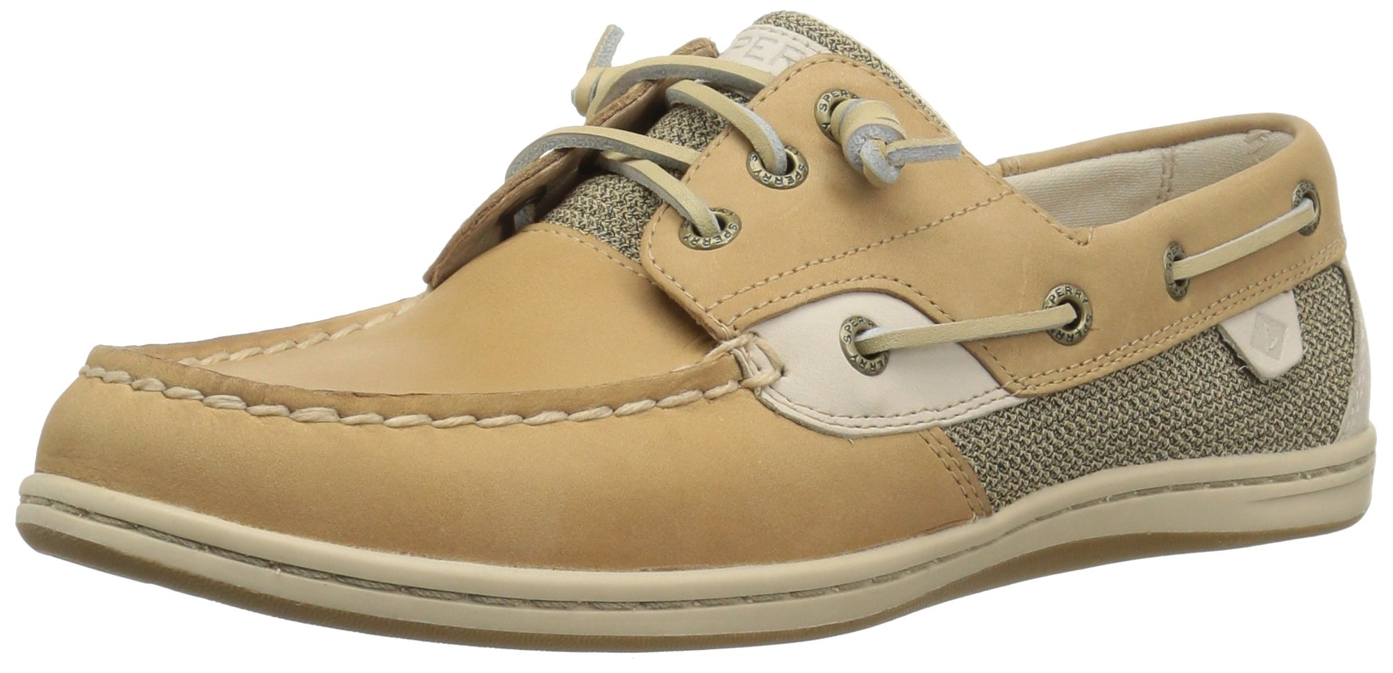 Sperry Top-Sider Women's Songfish Boat Shoe, Linen/Oat, 7.5 Wide US by Sperry Top-Sider (Image #1)