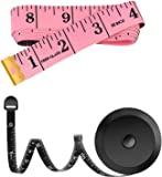HOME-MART 2 Pack Soft Tape Measure Measuring Tape for Body Fabric Sewing Tailor Cloth Knitting Craft Measurements, 60…