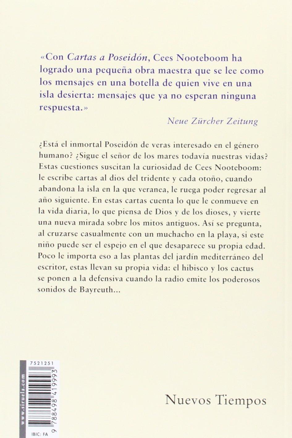 Cartas A Poseidón (Nuevos Tiempos): Amazon.es: Cees ...