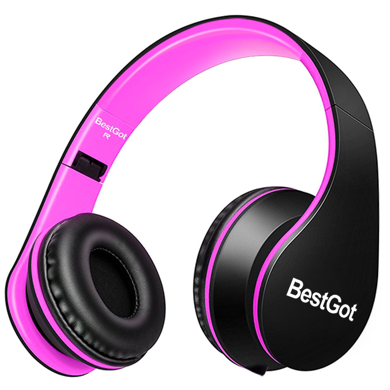 Auriculares BestGot para Girs Adult con Microfono in-line Volume Included Transport Bag Plegable Headset con 3.5mm Plug