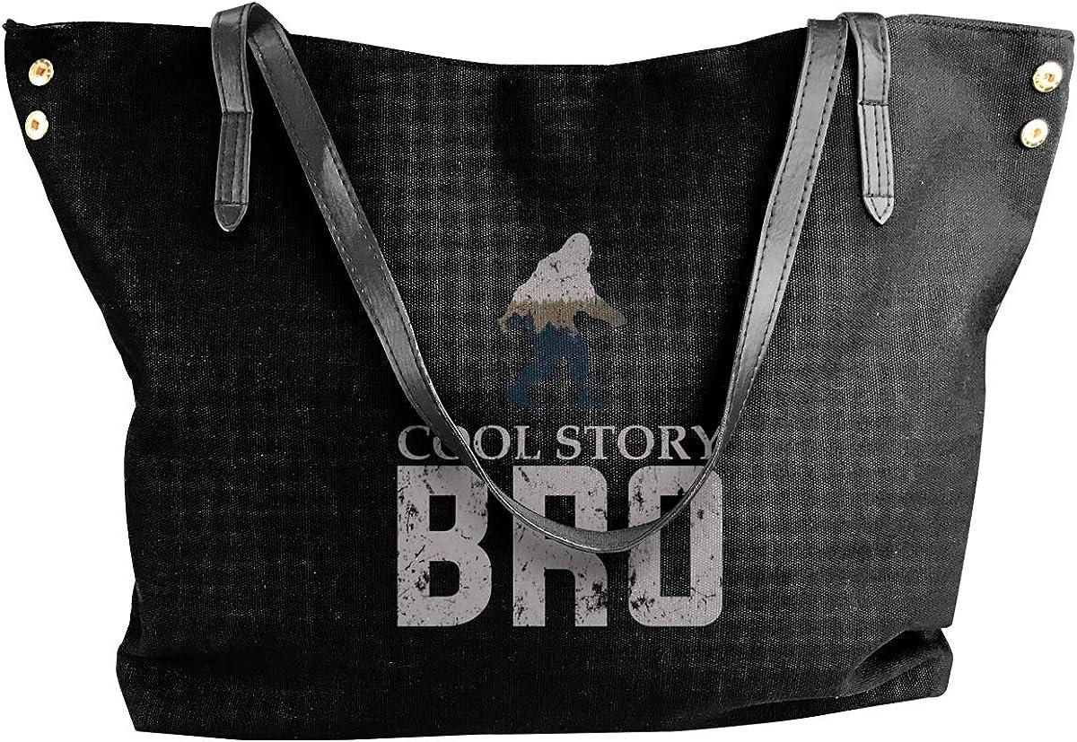 Bigfoot Cool Story Bro Hide And Seek Champion Womens Tote Bags Canvas Shoulder Bag Casual Handbags