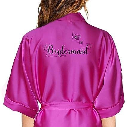 Albornoz Kimono de satén personaliseitonline. La novia, madrina, dama de honor, (
