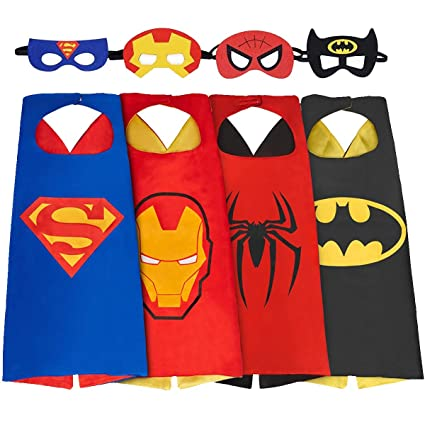 SPESS Comics Cartoon Hero Costumes Toddlers Cape and Mask For Kids  sc 1 st  Amazon.com & Amazon.com: SPESS Comics Cartoon Hero Costumes Toddlers Cape and ...