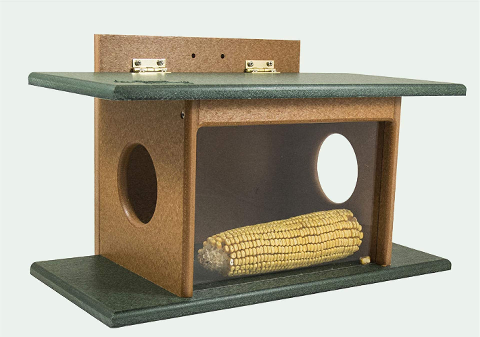DutchCrafters Eco Friendly Squirrel House Feeder (Gray & Light Gray)