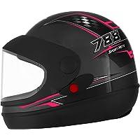 Pro Tork Capacete Super Sport Moto 56 Grafite/Rosa