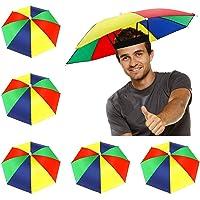 Chapeau de Parapluie Pliable UFO 30 cm /étanche Mains Libres Parapluie Pluie Chapeau Pluie Casque Casque