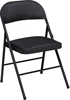 Attirant Cosco Fabric Folding Chair Black (4 Pack)