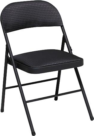 Cosco Fabric 4 Pack Folding Chair, Black