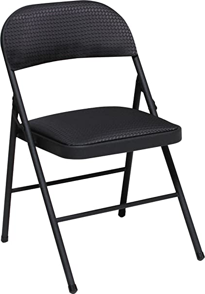 amazon com cosco fabric folding chair black 4 pack kitchen dining